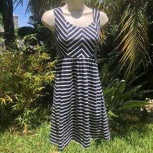Romy size S Romy A-line Navy Striped Dress 💙